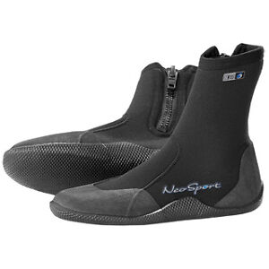 NEOSPORT-by-Henderson-3mm-Wetsuit-zipper-boots-bootie-Scuba-Dive-kayak-PWC-SUP