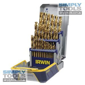 IRWIN 25 PIECE TITANIUM DRILL BIT SET (Metric) 6 times longer life (RRP $262)