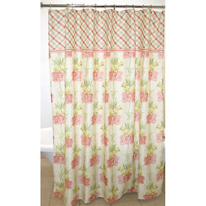 Waverly Shower Curtain Traditions Starla Mauve Pale Yellow