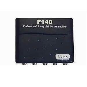 GLOBAL F140 4 WAY TV LINK AMPLIFIER MAGIC EYE - F TYPE