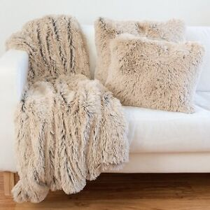 LTB throw pillows and a throw