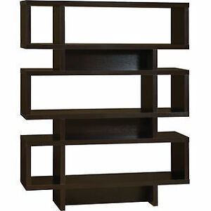 new espresso Bari bookcase