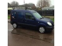 Renault Kangoo van with 5 seats and large boot space ideal family car,dog walking or trades