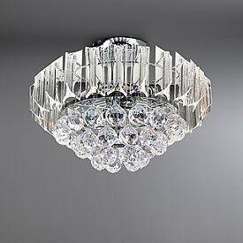 Chandelier Crystal & Chrome Lights