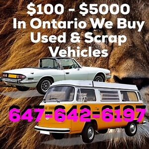 ALL MAKES - ALL MODELS -ANY CONDITION $100-$5000