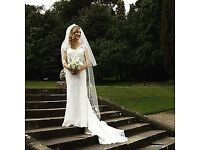 Size 8/10 handmade lace wedding dress