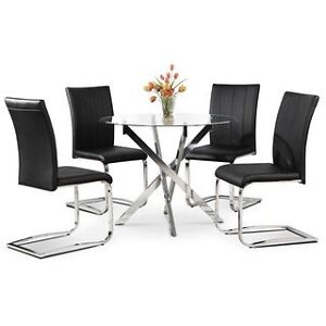 Tori 5 pc. Dining Set in Black