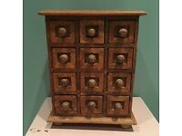 Lovely wooden Indian spice drawers/apothecary