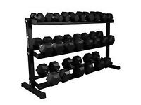 New Dumbell set and rack