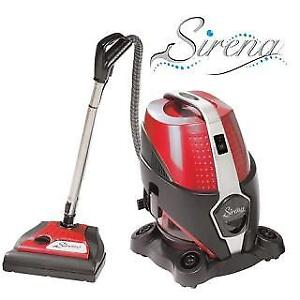 NEW SIRENA CANISTER VACUUM - 124948364 - BAGLESS W/ BONUS KIT WATER FILTER CLEANER HEPA FILTER