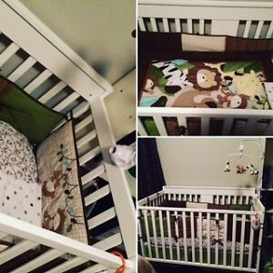 Crib bedding set - Unisex - Jungle Gatineau Ottawa / Gatineau Area image 1