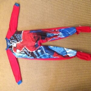 Boys One Piece Spiderman PJ's