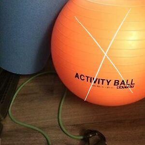 Tapis d'exercice et élastique, sport, yoga