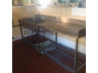 Catering Kitchen Stainless Steel Sinks and Worktops