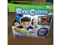 Eye Clops TV video microscope - instructionsbox opened but never used - RRP - £80. Selling for £10