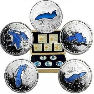 Royal Canadian Mint Great Lakes coin set and case
