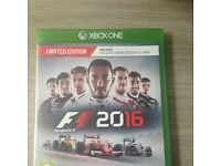 Xbox One Formula 1 2016 game - vgc with box and instructions - limited edition