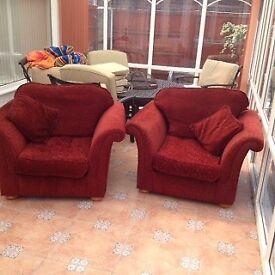 2 Chenille sofa chairs
