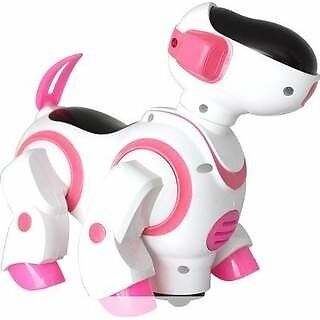 NMIT® Childrens i-Robot Puppy Dog, Flashing Light & Sound - (Pink)