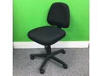 Black Typist Chair no arms