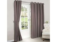 Dunelm Nova gold blackout curtains