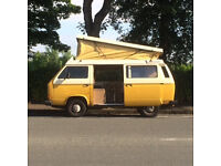 £5695 ono, 1980s Classic T25 Campervan, 11 months MOT, 4 berth pop top, daily use.
