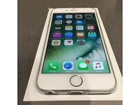 Hardly used iPhone 6 white silver stunning