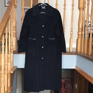 Manteau d'hiver en Cashmere, long