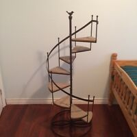 Beautiful rod iron/wooden shelf for Sale