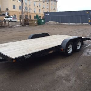 2012 H&H 18'car/sled/quad/utility trailer beaver tail ramps