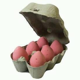 6 Cherry Bath Eggs