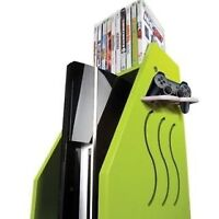 Green Color Video Gaming Console/ Storage Unit