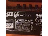 Portable orange bass amp