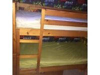 Good condition solid pine bunk bed!