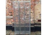 Industrial Triple Wire Lockers - home/sports/building site/school/staff room/
