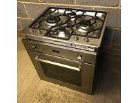 Smeg Cucina SFP485X Single Built In Electric Oven with Smeg PGF64-4 Low Profile 4 Burner Gas Hob