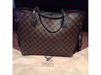 Brand new Louis Vuitton Neverfull MM in Ebene canvas (brown check) CAN POST
