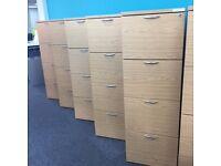 Light Oak 4 Drawer Filing Cabinet