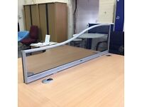 Desk Top Wave Perspex Screens