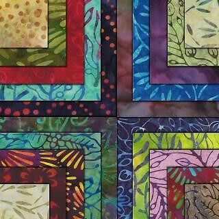 Xanadu Moda Fabrics Batik 100% Cotton 2 Charm Packs, Jell...
