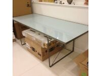 Ikea classic glass dining table