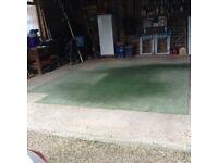 80% Green Wool Carpet 8ft x10ft