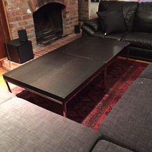 TWO IKEA WOODED COFFEE TABLES