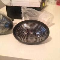 2x Black Smoked Side Scuttle turn signal For MINI COOPER