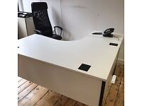 3 curved desks with matching drawers FOC