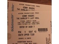 2 Kenny Rogers Tickets Seated for 08/11/16 SSE Arena Belfast