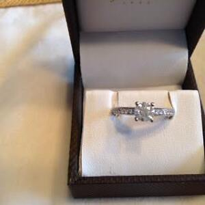 Engagement ring 14kt white gold .89 total carat /size 6 Peterborough Peterborough Area image 6