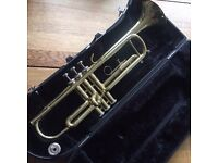 Jupiter 300 standard size trumpet. Fair condition, reliable, perfect for a learner.