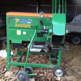 posch autosplit 250 kindling machine and logs