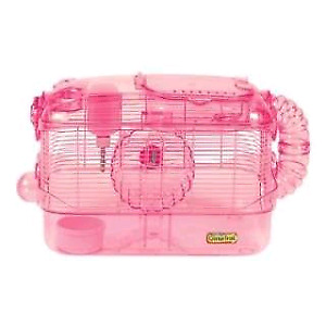 Cage hamster avec accessoires et boule
